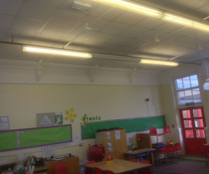 After Photo:Upgrade of Conventional Lighting to LED Lighting in School Classrooms