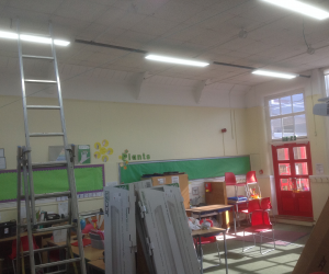 Before Photo:Upgrade of Conventional Lighting to LED Lighting in School Classrooms